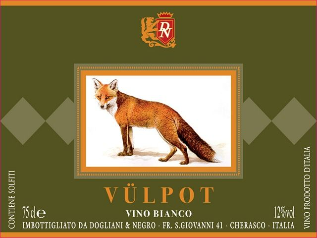 Vulpot: etichetta per Dogliani & Negro