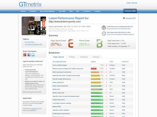 Performance di un sito web, ottimizzazione e miglioramento: regole base.