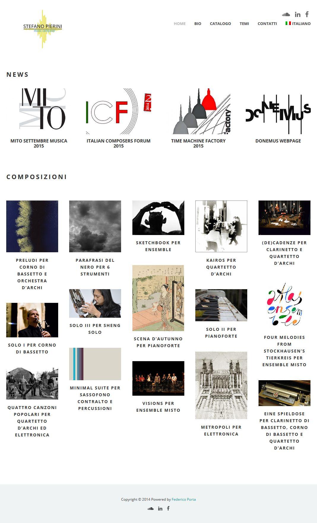 Stefano Pierini compositore sito online
