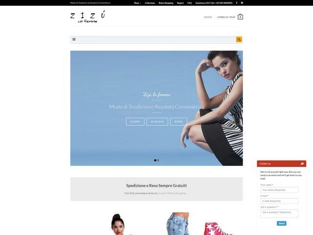 Zizù la femme, zizulafemme.com prima realizzazione del sito web